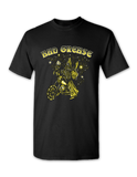 Wizard t-shirt - BLACK FRONT| Bad Grease Inc