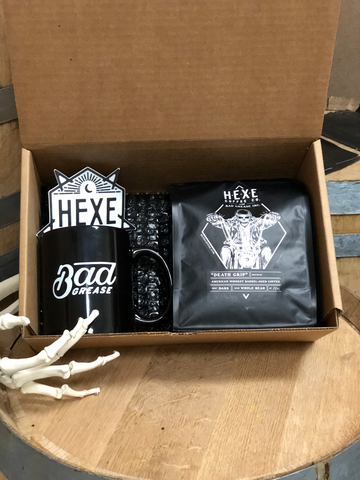 "Hexe Coffee Co. / Bad Grease Inc - ""Death Grip"" - mug bundle"