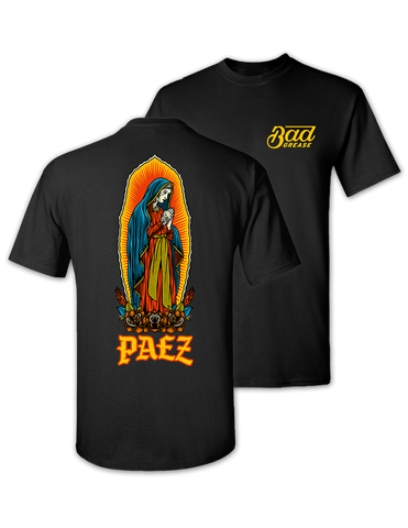 Jesse Paez - holy Mary t-shirt - BLACK | Bad Grease Inc