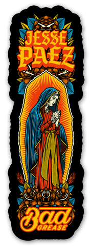 Bad Grease Inc - Jesse Paez - holy Mary sticker