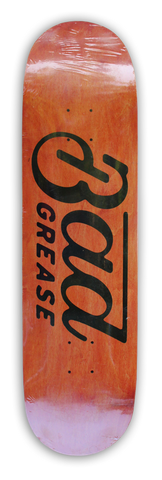 Bad Grease Logo Skateboard - ORANGE | Bad Grease Inc