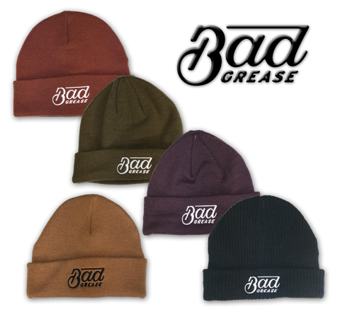 Bad Grease logo skull caps | Bad Grease Inc