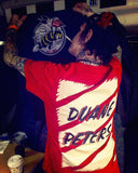 O.G. DP Pro tshirt - RED - DUANE PETERS | Bad Grease Inc