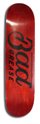 Bad Grease logo skateboard - RED
