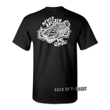 Never Broken Bottle t-shirt - BLACK | Bad Grease Inc