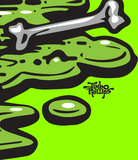 Toxic Monster skateboard - LIME