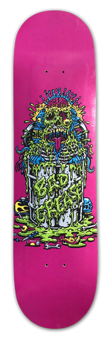 Toxic Monster skateboard - PINK | Bad Grease Inc
