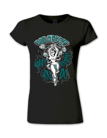 Voodoo ladies tee - BLACK FRONT | Bad Grease Inc