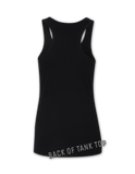 Voodoo ladies racerback tank top - BLACK FRONT