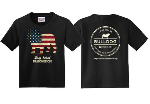 Youth Tee Shirt Flag Dog