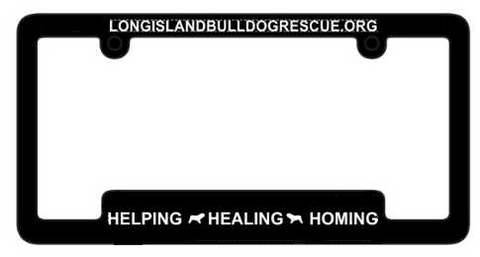 Long Island Bulldog Rescue License Plate Cover