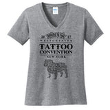Tattoo Convention Ladies V Neck Tee