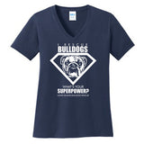 Superpower Ladies V-Neck Tee