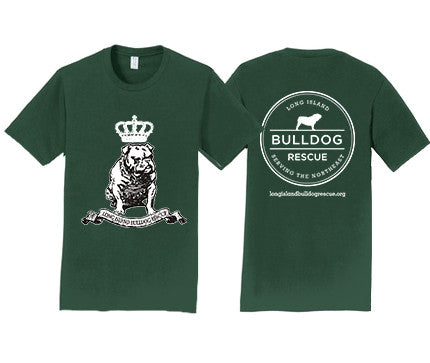 Mens Tee Shirt Bulldog Crown