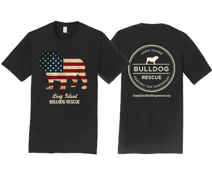 Mens Tee Shirt Flag Dog