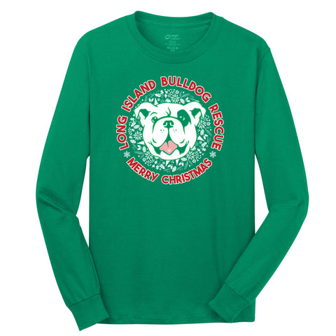 2018 Christmas Bulldog Ugly Sweater -  Long Sleeve T-Shirt