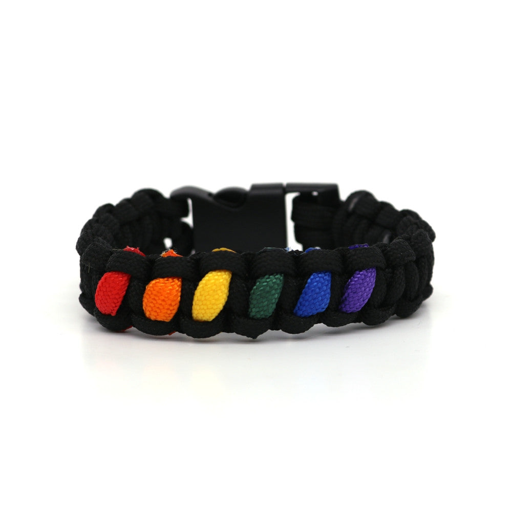 "LGBT Stoffarmband ""Connected"""