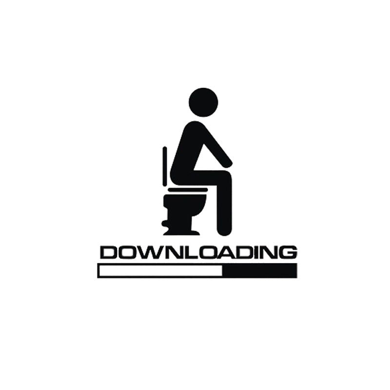 "WC-Aufkleber ""Downloading"""