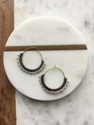 Noir Creole Earrings