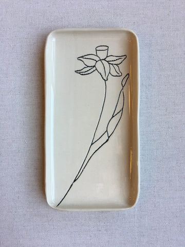 Small Ceramic Daffodil Tray