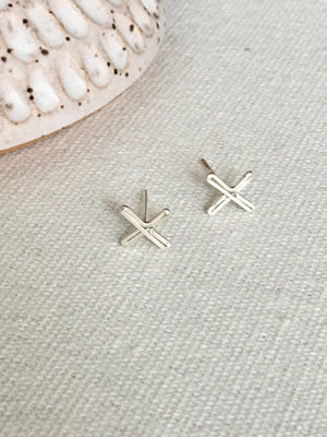 Sarah Briggs-Seraphina Aim Post Earrings-Sterling Silver