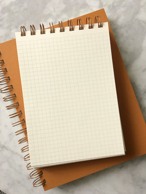 Ruff House Art-Quill & Inkwell Grid Notebook
