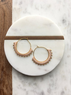 Blush Creole Earrings