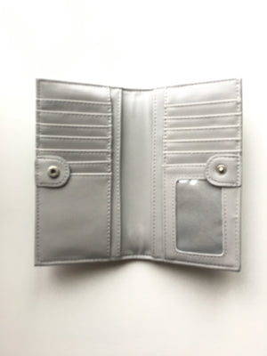 Pixie Mood-Sophie Wallet-Grey & Suede