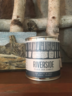 Riverside Candle-1/2 Pint Tin Candle