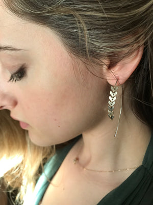 Sarah Briggs-Newport Malta Fishtail Wishbone Hoops-Sterling Silver