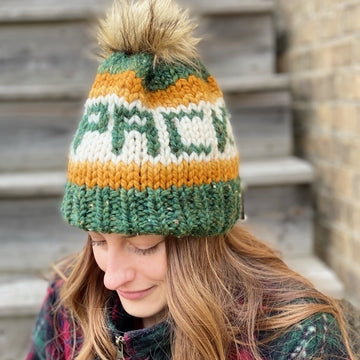 Packers Hat with Faux Fur Pom