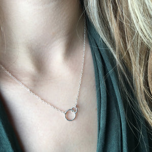 Hello Adorn-Tiny Links Necklace-Sterling Silver
