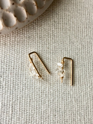 Sarah Briggs-Seraphina 14k Gold Crawler with Herkimer Diamonds