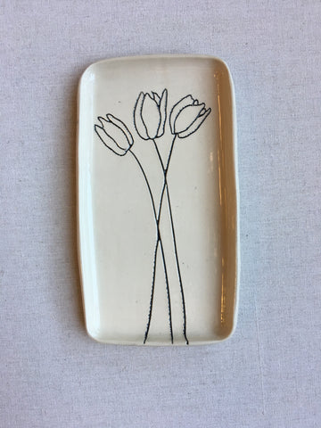 Small Ceramic Tulip Tray