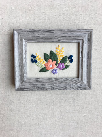 Thimble & Birch - Bouquet Stitched Art