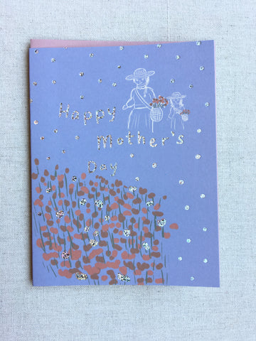 Mother's Day Picking Flowers Card