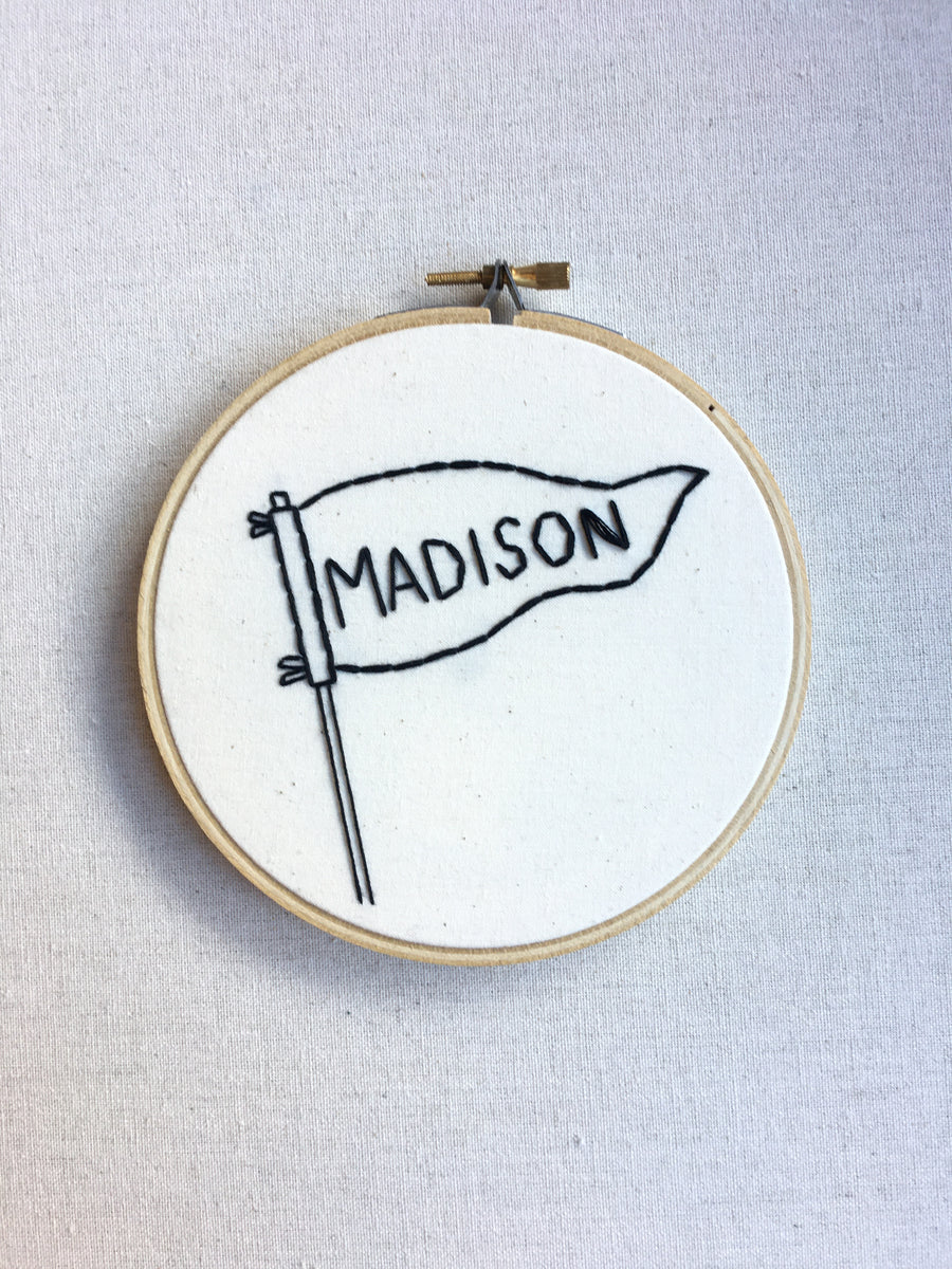 Madison Pennant Embroidery Art