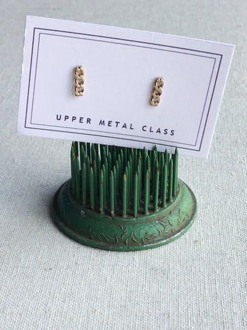 Kindred 3-Link Stud Earrings - Bronze