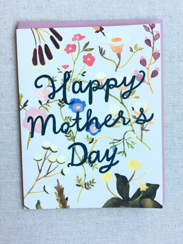 Happy Mother's Day Wildflowers Card