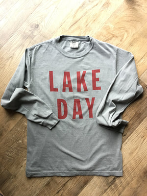Lake Effect Co-Lake Day L/S Tee-Gray