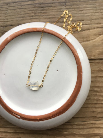 Moonstone Cushion Necklace