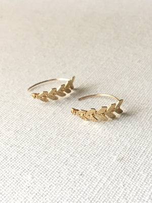 X-Small Soleil Earrings-14k Gold