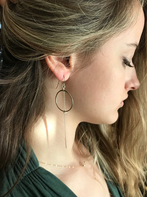 Hello Adorn-Paladin Earrings-Sterling Silver
