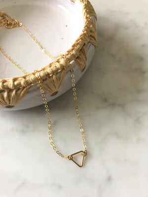 Adorn-Tiny Open Triangle Necklace