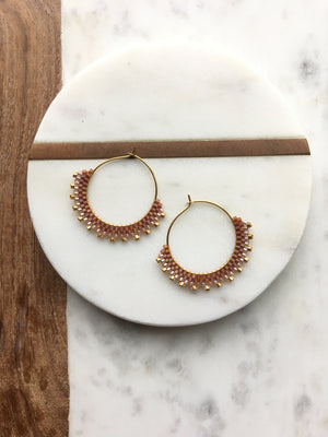 Caramel Creole Earrings