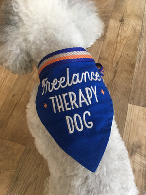 Easy, Tiger-Freelance Therapy Dog Bandana