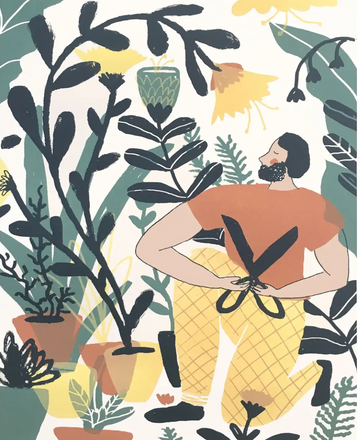 Art Print- In the Garden - Elana Gabrielle