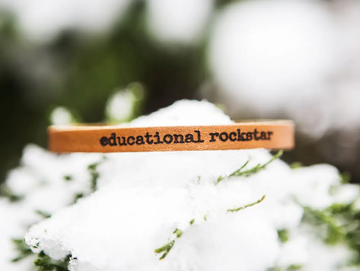 Educational Rockstar Leather Bracelet