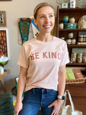 Be Kind Tee in Faded Pink