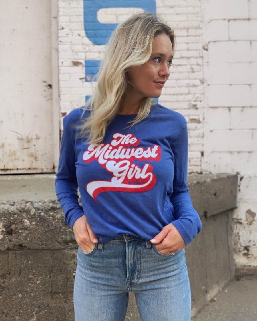 Retro MIdwest Girl Long Sleeve Tee